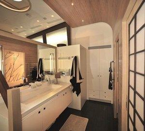Main Master Bathroom Aboard Yacht ESPRESSO