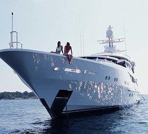 Ship's Bow Aboard Yacht LAZY Z