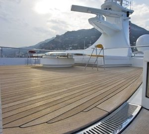 Upper Deck Aboard Yacht LADY S
