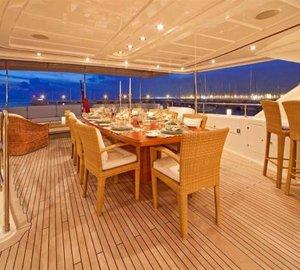 ARIELA - Alfresco dining upper deck