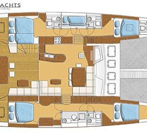 Catamaran Luna - Layout