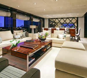 Luxury Charter Yacht MANIFIQ  Main Salon - Interior by Luca Dini Design