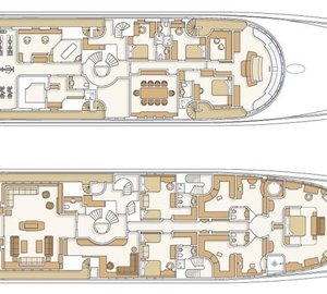 Motor Yacht Reverie - Layout Two