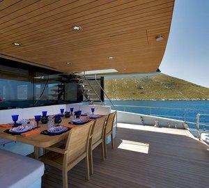 Motor yacht KANGA -  Aft Deck Al fresco dining