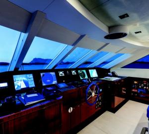 Nameless superyacht - helmstation