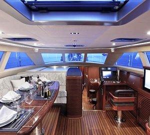 Sail Yacht AIYANA -  Pilot house dining