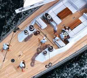 Sailing yacht SILVERTIP- From Above