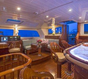 Sailing yacht WHISPER -  Bar and Navigation Station