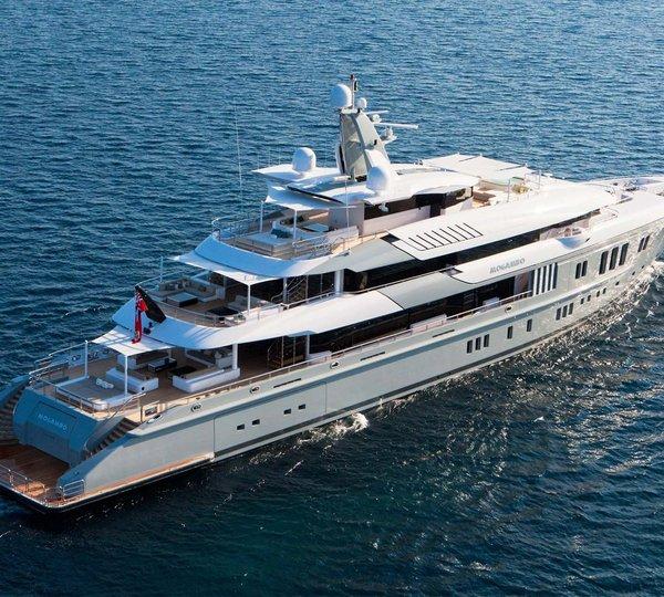 A video movie of a super yacht charterworld luxury for Lurssen yacht genova
