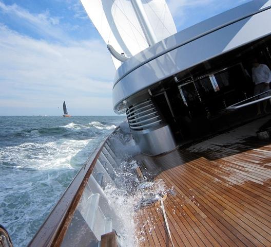 Transatlantic Race 2011 A Great First Day onboard Superyacht Maltese Falcon