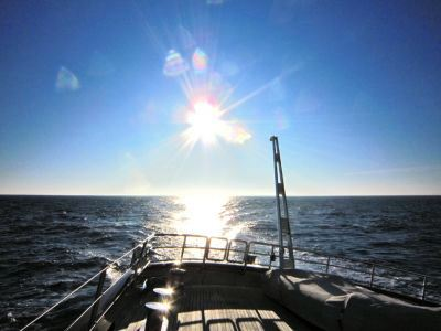 View from Superyacht Maltese Falcon the 289' Perini Navi during the Transatlantic Race 2011 - Photo by Jeremy Smith