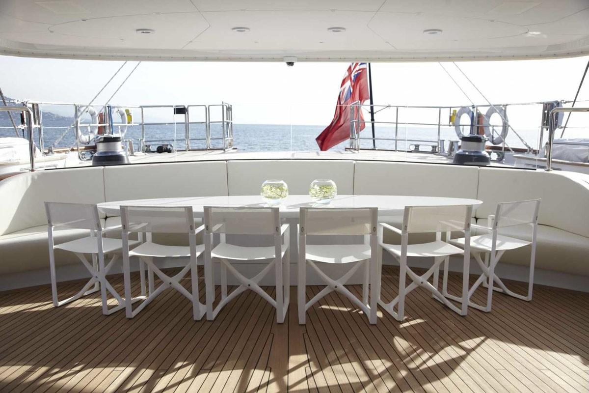 Sailing Yacht Panthalassa -  Aft Deck Dining