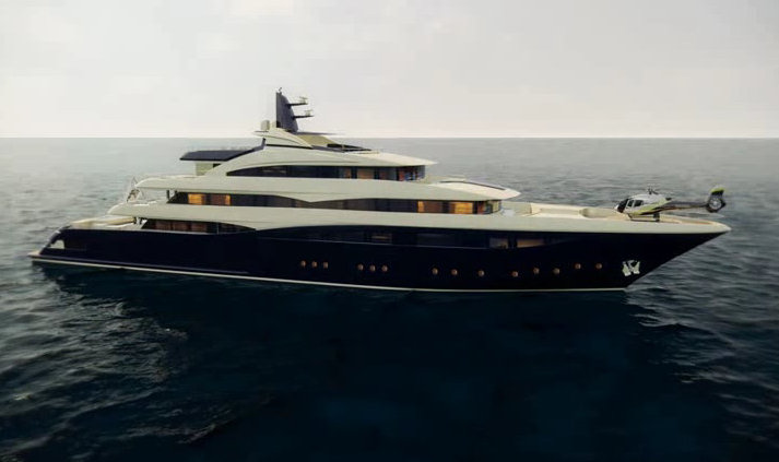 Luxury motor yacht CRN 131 rendering