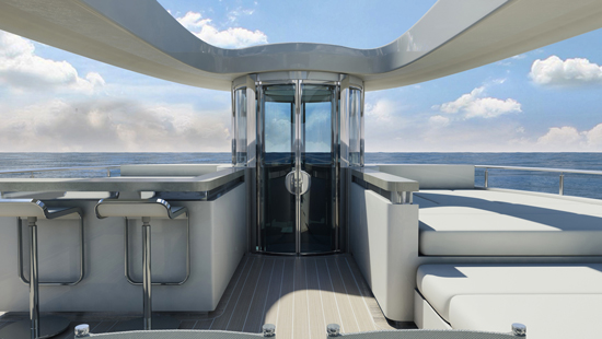 Lift Emotion's elevator solution for luxury catamaran yacht 'quaranta'