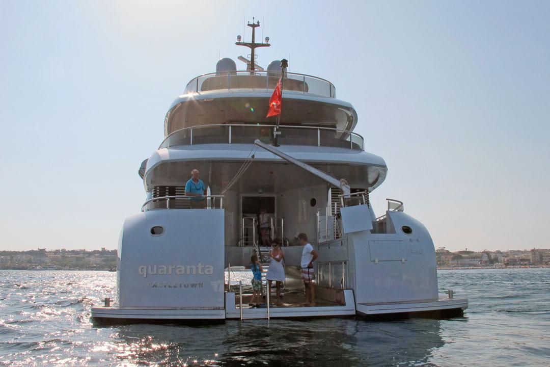 Quaranta Yacht - aft view