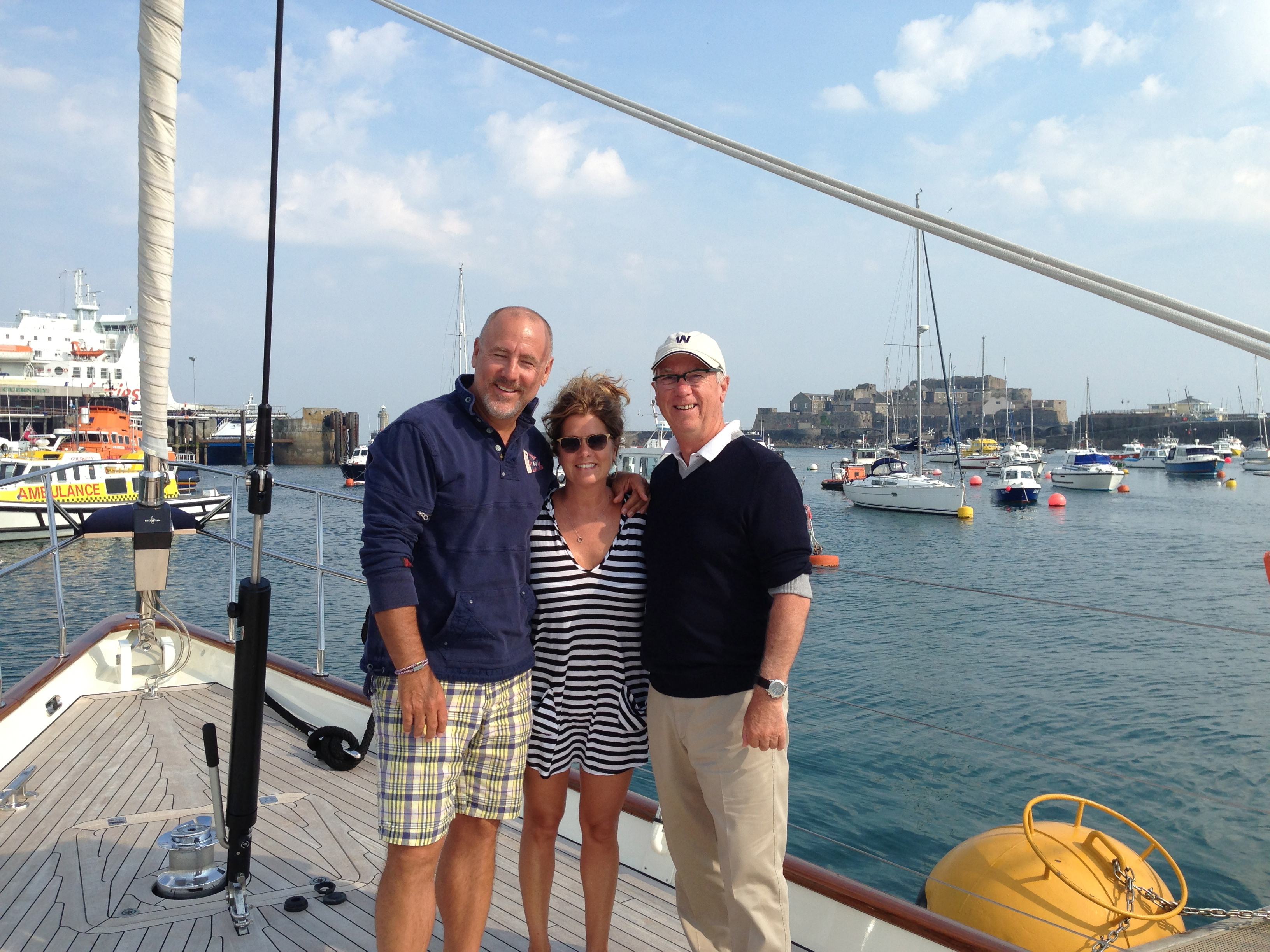Ron with happy Clients aboard Wavelength Yacht