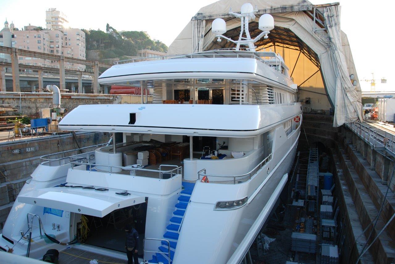 Luxury yacht Apogee - Amico Refit 2013