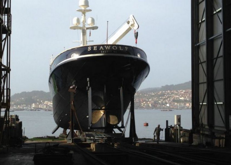 1955 charter yacht Seawolf ready to hit the water at Atollvic in Vigo, Spain