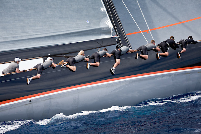 The crew of Firefly yacht hold on to top spot in Class A making it three wins in three races Jeff Brown | Superyacht Media Race day 3