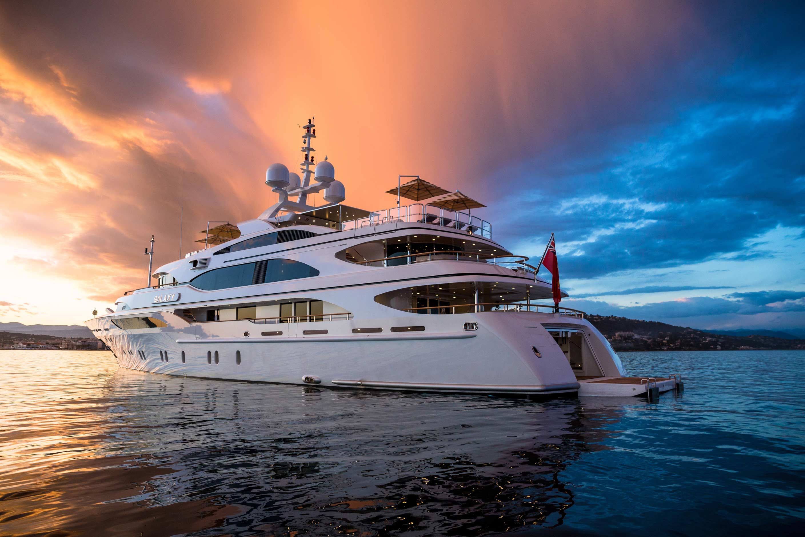 Luxury motor yacht Galaxy - Photo by Jeff Brown