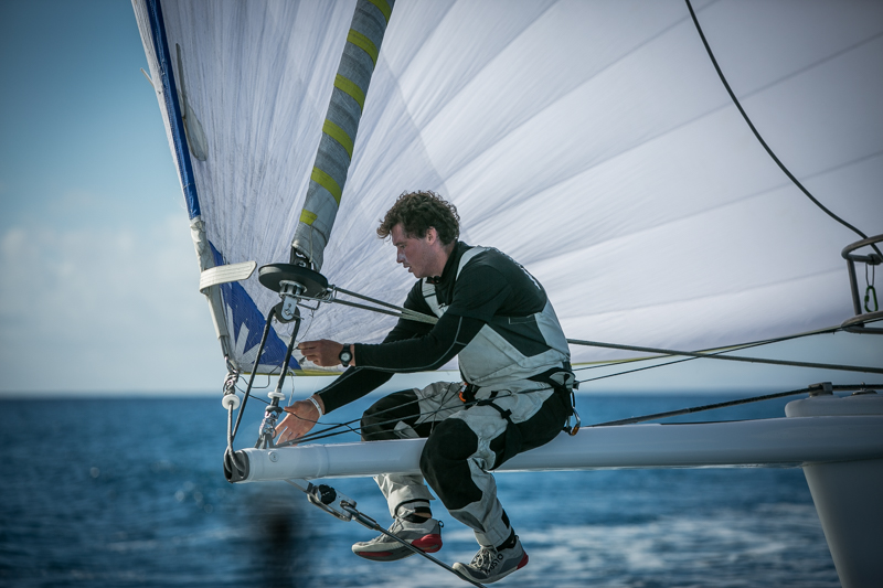 Jack Bouttell, Artemis Offshore Academy graduate and Figaro sailor is on board for Lupa of London's first transat © Puerto Calero James Mitchell