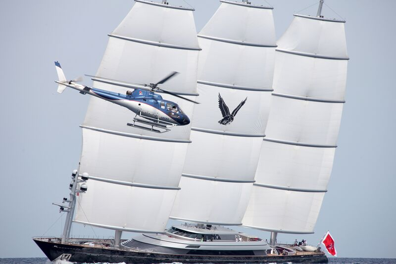 Luxury charter yacht Maltese Falcon during the Perini Navi Cup 2015