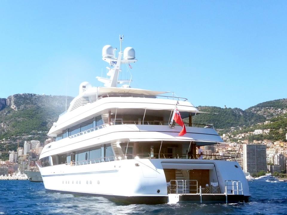 Luxury yacht LADY BRITT - aft view - Photo by Dirk-Jan Vermeij and Feadship Fanclub