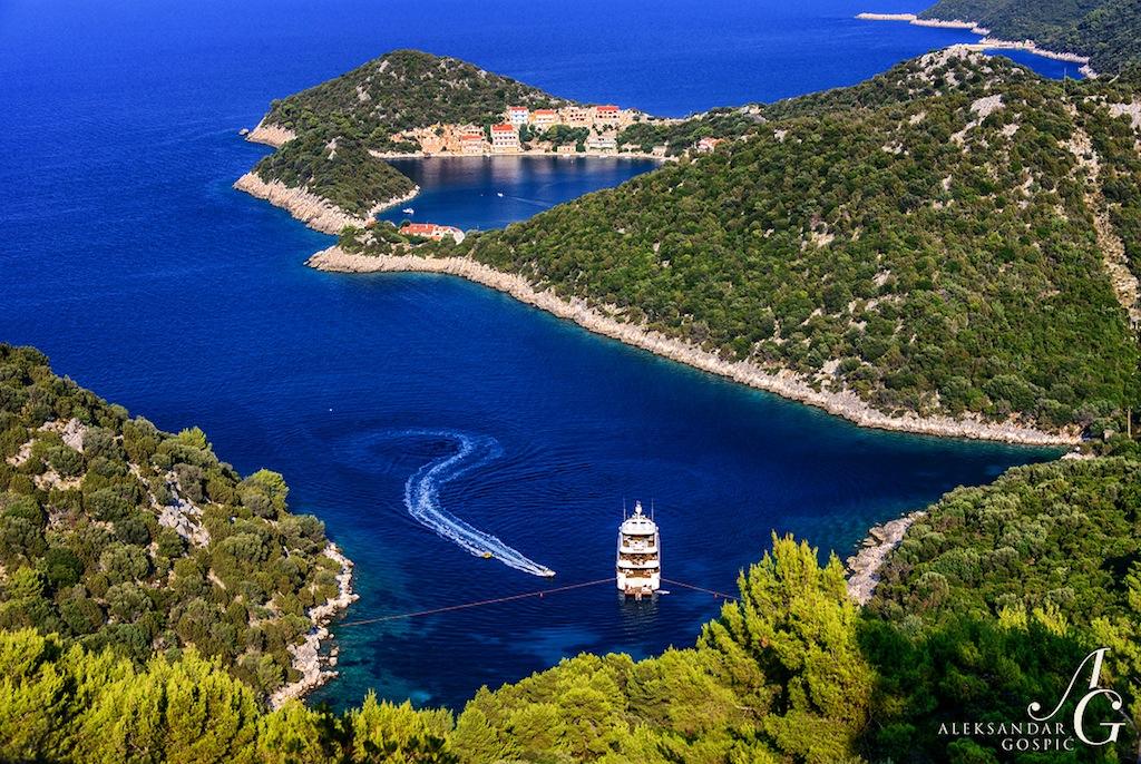 Superyacht PRIDE - Taken near Lastovo island in Croatia - Photo by Aleksandar Gospic