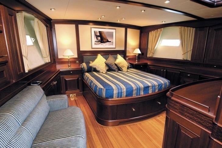 Sitting: Yacht SOJANA's Main Master Cabin Photograph