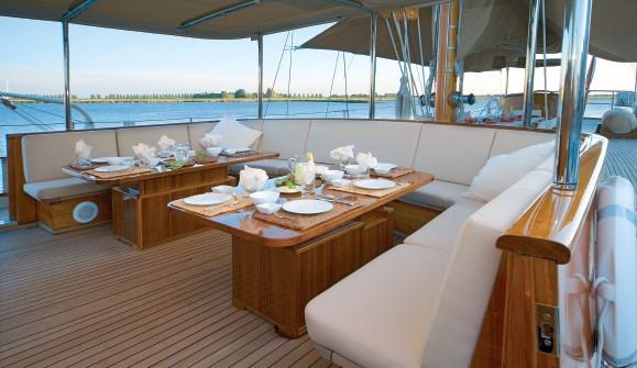 External Sitting Aboard Yacht TIZIANA