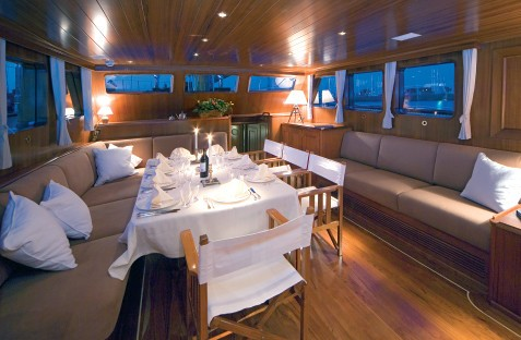 Saloon On Yacht TIZIANA