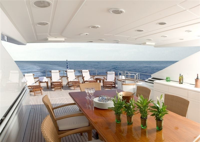 Top Deck On Yacht LET IT BE