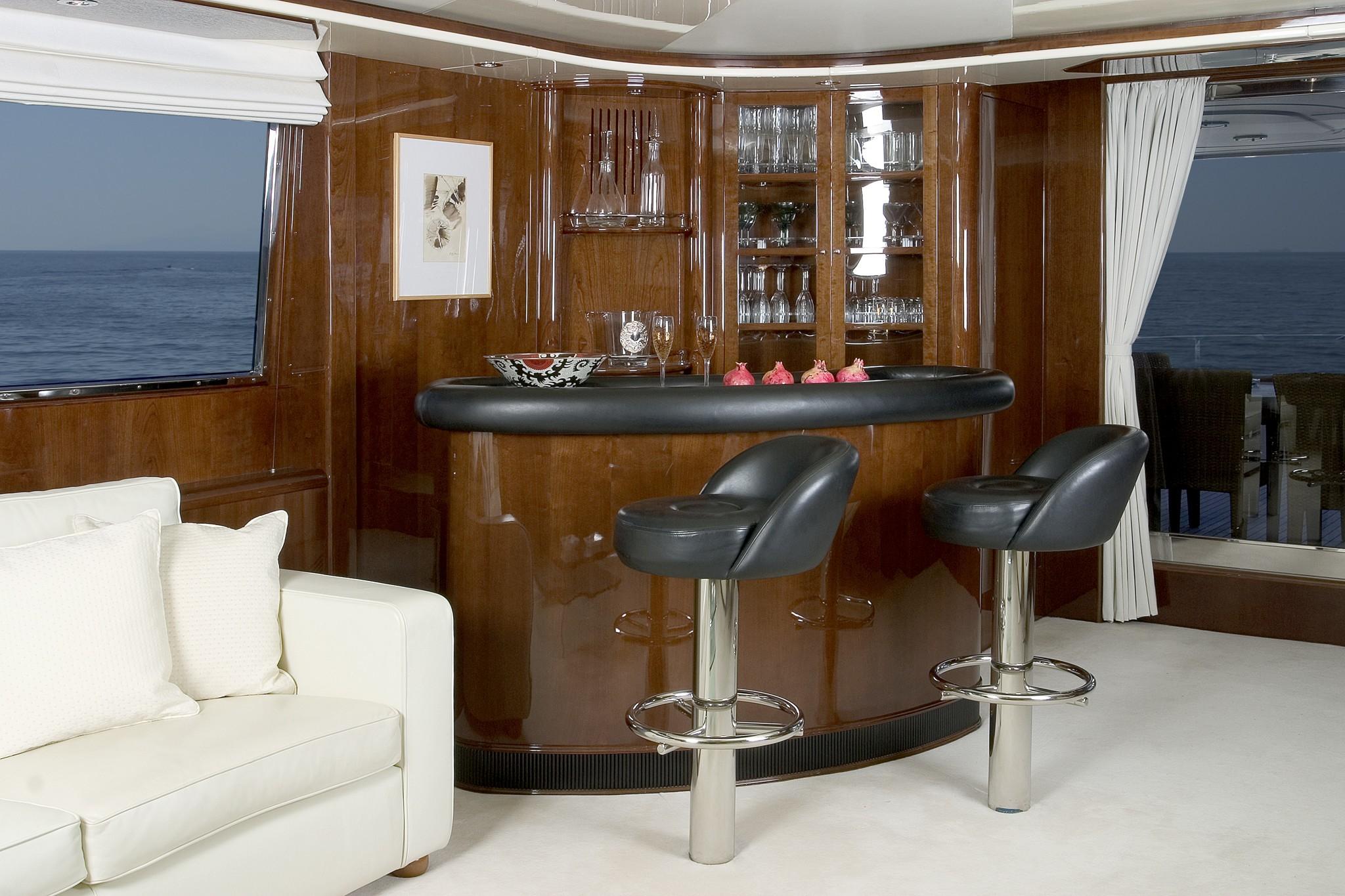 Let it be yacht charter details tecnomarine greece charter yacht charterworld luxury superyachts - Table bar de salon ...