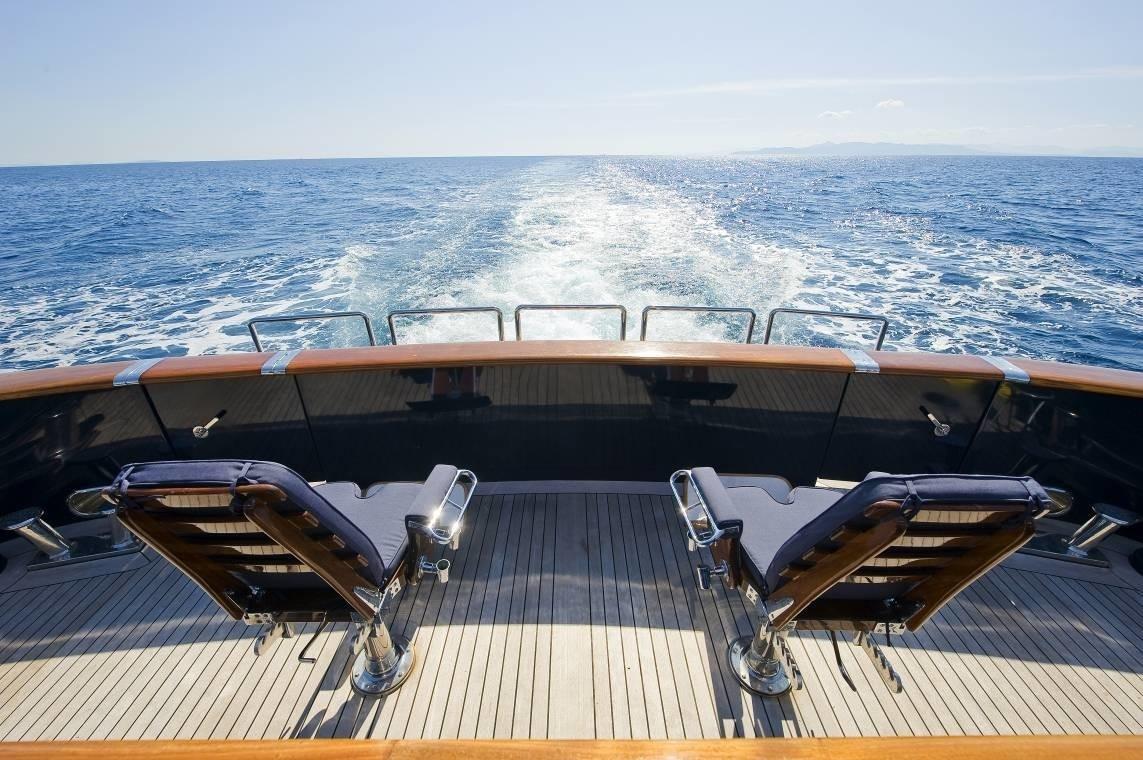 Aft Aspect On Board Yacht RH III