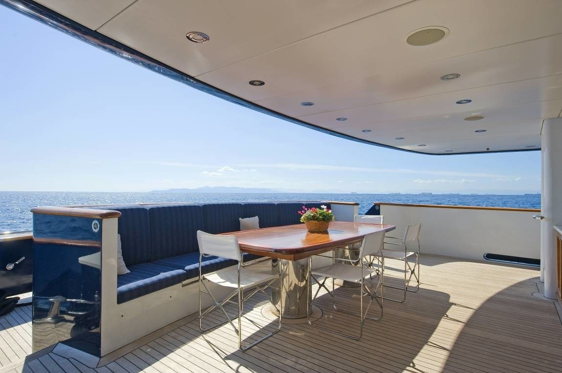 Premier Aft Deck Sitting On Board Yacht RH III
