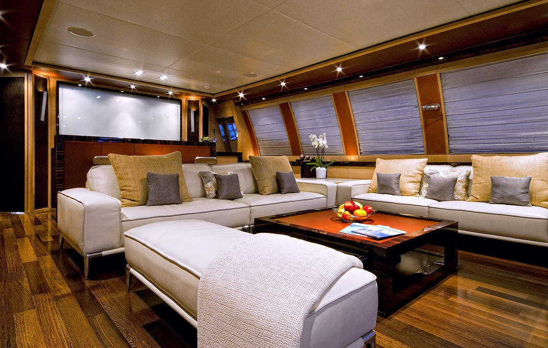 Saloon Aboard Yacht VANQUISH
