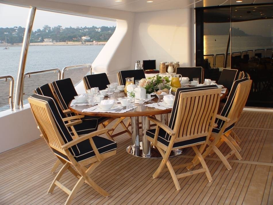 Aft Eating/dining On Board Yacht WILD THYME