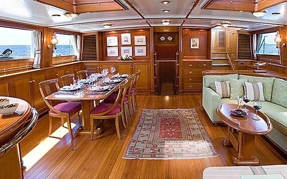 Saloon On Board Yacht AXIA