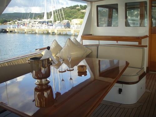 Cockpit Aboard Yacht AXIA