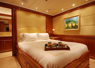 Guest's Cabin On Board Yacht MILK AND HONEY
