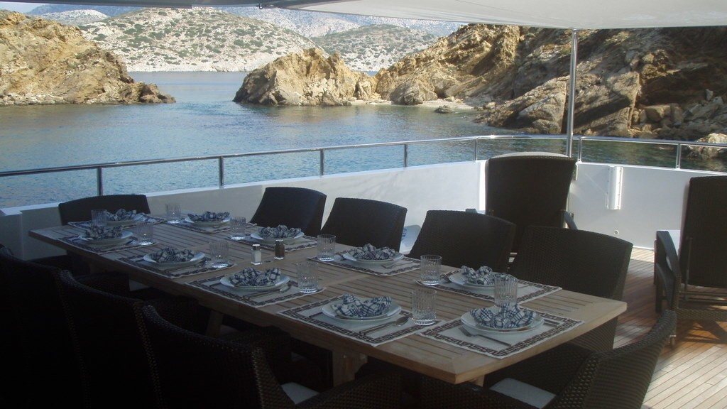 External Eating/dining Furniture On Board Yacht MILK AND HONEY