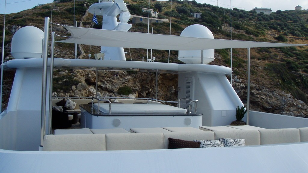 Jacuzzi Pool Upon Sun Deck On Yacht MILK AND HONEY