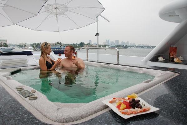 Jacuzzi Pool On Yacht MILK AND HONEY