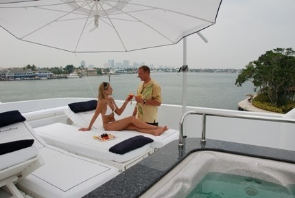 Jacuzzi Pool With Sitting On Board Yacht MILK AND HONEY