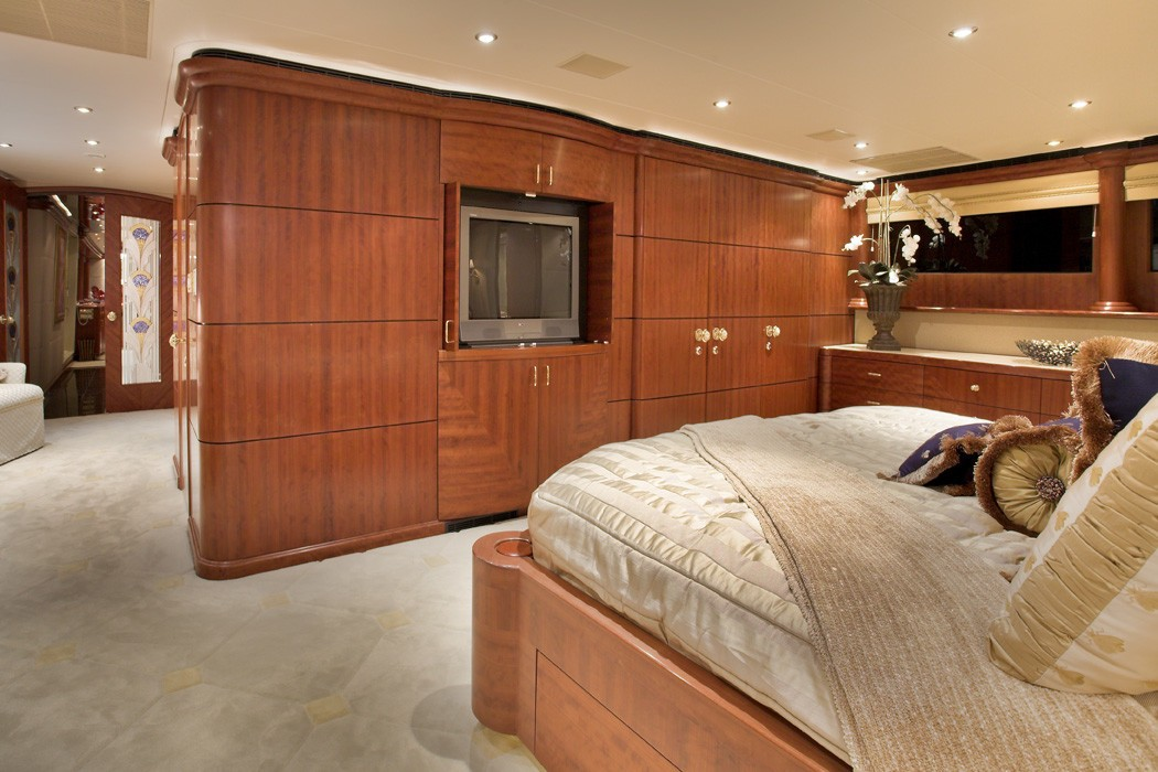 Aft: Yacht NAMOH's Main Master Cabin Pictured