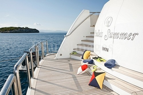 Swimming Deck On Board Yacht ENDLESS SUMMER