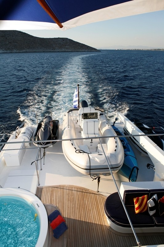 Ship's Tender Aboard Yacht ENDLESS SUMMER