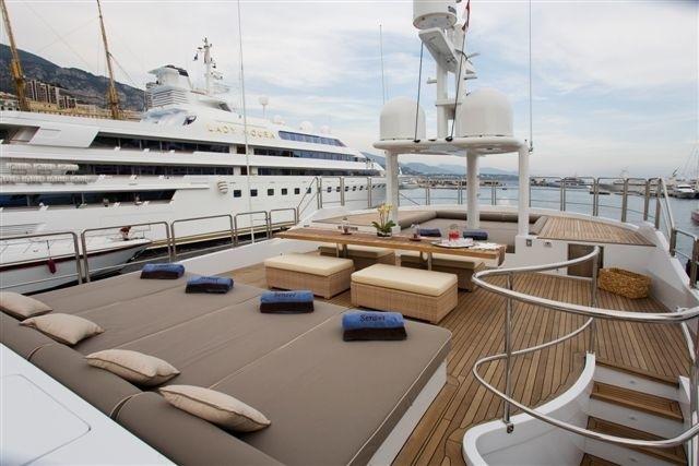 Sunbeds Aboard Yacht SENSEI