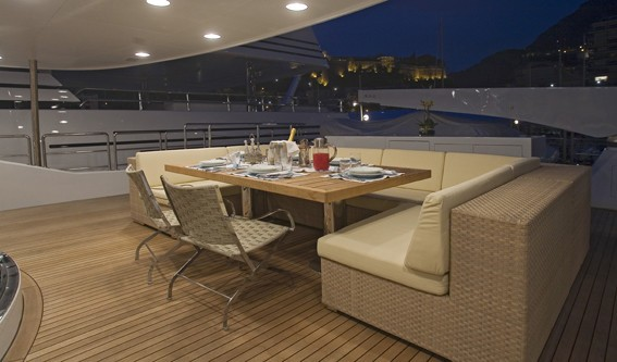 External Eating/dining On Board Yacht SENSEI