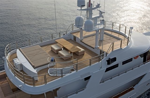 From Above Aspect On Board Yacht SENSEI